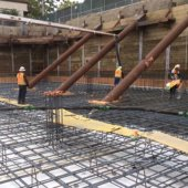 Station 1300 completes excavation work, starts pouring concrete