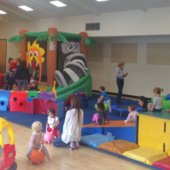 Tot Lot play zone resumes at the Arrillaga Family Recreation Center