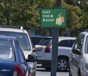 Got Your Bags parking lot sign