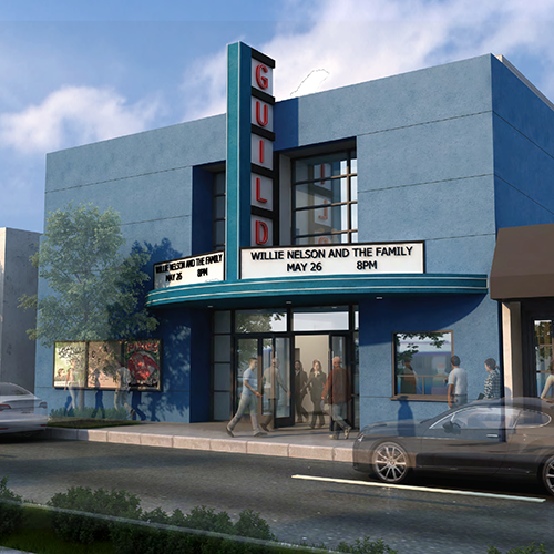 Guild Theatre - front rendering