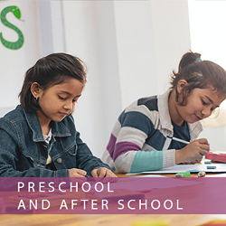 preschool after school updated - kids working at desk