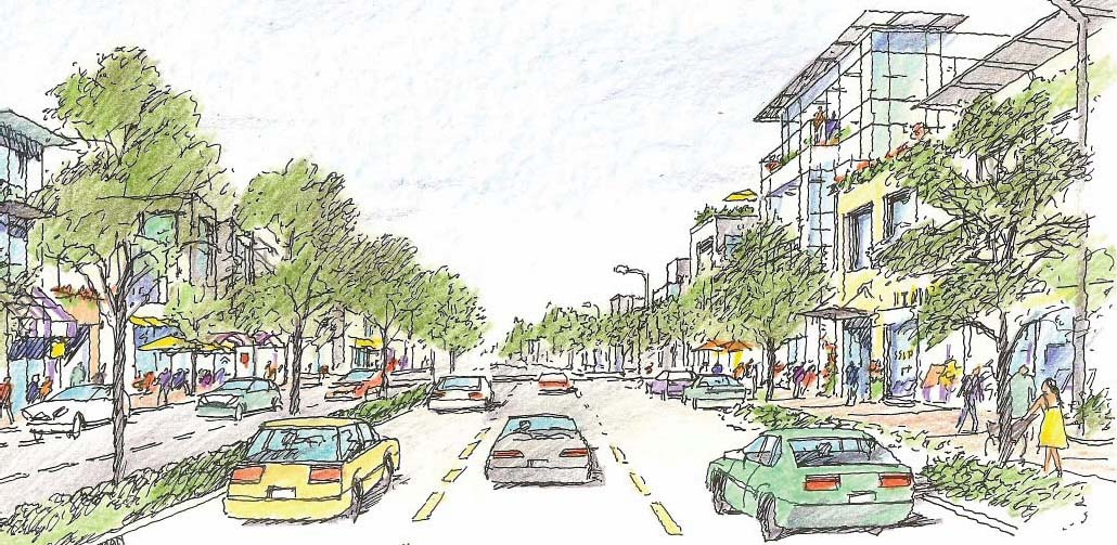 El Camino Real near Partridge Avenue Concept Art