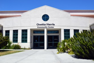 Exterior shot of the Onetta Harris Community Center.